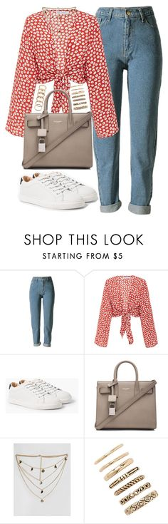 """Untitled #5337"" by jumana379 ❤ liked on Polyvore featuring Faithfull, MANGO, Yves Saint Laurent, ASOS Curve and Forever 21"
