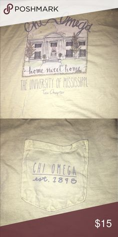 Ole miss chi omega tshirt Chi omega ole miss sorority shirt Tops Tees - Short Sleeve