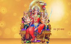 HD Maa Durga Image Wallpaper – Share your Emotion with Images Durga Picture, Maa Durga Photo, Maa Durga Image, Durga Maa, Durga Goddess, Navratri Puja, Navratri Wishes, Happy Navratri, Maa Durga Hd Wallpaper