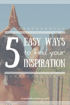I'm always looking for new ways to get inspired. Here's my 5 go-to ways to get inspired and let your creativity flow!
