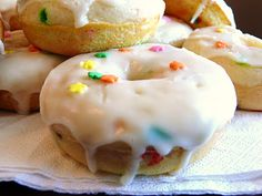 Cake batter Donuts...who doesn't love the cake batter flavor???