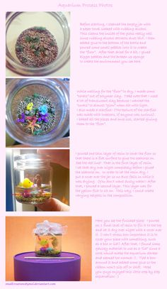 Aquarium Process by SmallCreationsByMel on deviantART