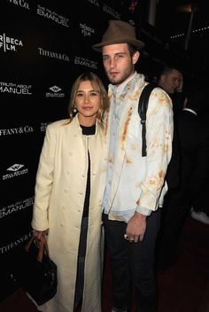 """Olesya Rulin and Nico Tortorella at """"The Truth About Emanuel"""" premiere in December 2013..."""