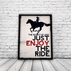 Amazon.com - Horse Riding Poster, Equestrian Poster, Sports Poster, Horse, Bedroom Poster, Girls Room, A3 Poster, Un-framed