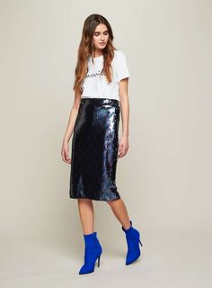 f8a9ba2c86920 Dark Iridescent Sequin Skirt Mommy Style