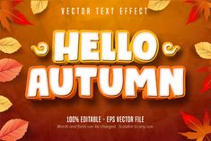 Autumn Style Editable Text Effect #Sponsored , #Advertisement, #Style, #Autumn, #Editable, #Effect