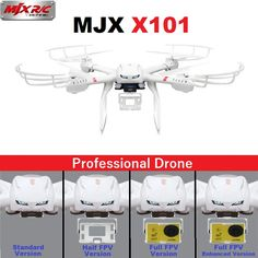 BUY Drones MJX X101 2.4GHz 6-Axis FPV RC Quadcopter Helicopter With SJ7000 14MP 1080P Full HD WiFi Camera #russia #china #hongkong