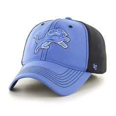 001aabb3 Detroit Lions Draft Day Closer Blue Raz 47 Brand Stretch Fit Hat ...
