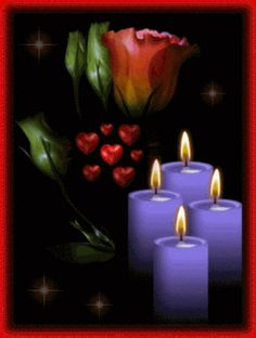 candels - Page 10 Beautiful Gif, Beautiful Roses, Candels, Pillar Candles, Good Night, Night Time, Birthday Quotes For Daughter, Flickering Lights, Candle In The Wind