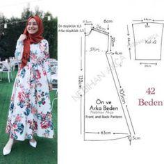 Creating DIY Fashion Trends – Designer Fashion Tips Dress Sewing Patterns, Sewing Patterns Free, Clothing Patterns, Muslim Fashion, Hijab Fashion, Fashion Dresses, Fashion Sewing, Diy Fashion, Sewing Clothes