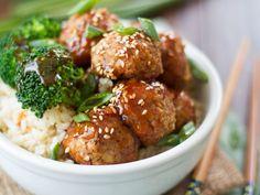 Ginger Glazed Tofu Meatballs