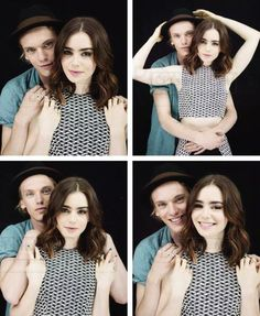 Lily Collins and Jamie Campbell Bower(mortal instruments)