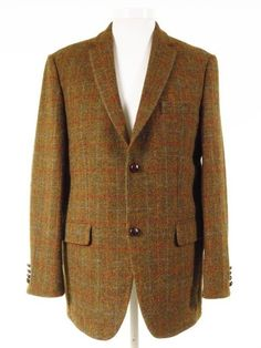 293a44e6c2a29 Country style Harris Tweed jacket rustic check 46L
