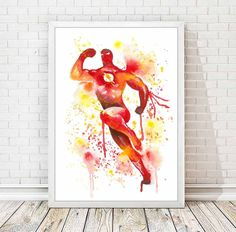 The Flash Art Print Avengers Superhero Watercolor Print Nursery Art Kids Room Home Decor Wall Art Baby Shower Gift Boy Room Decor A78 by DROPINDROP on Etsy https://www.etsy.com/listing/221495030/the-flash-art-print-avengers-superhero