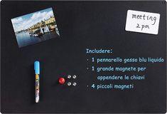 Magnetická křídová tabule, kovová tabule, oboustranná s 1 popisovačem tekuté křídy, 5 magnetů, 4 šrouby, 56 × 38 × 0,12 cm: Amazon.de: Bürobedarf & Schreibwaren Marker, Beige, Electronics, Stationery, Magnets, Markers