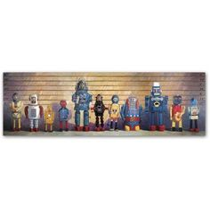 Trademark Fine Art The Usual Suspects Canvas Art by Eric Joyner, Size: 16 x 47, Multicolor