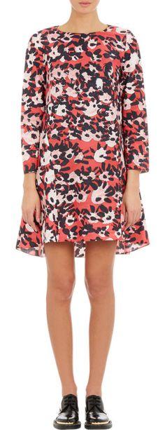 Marni Abstract Floral-Print A-line Dress at Barneys.com