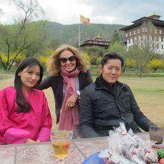 Diane Von Furstenberg with the King and Queen of Bhutan