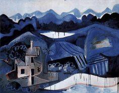 Pablo Picasso, Landscape in Mougins on ArtStack #pablo-picasso #art
