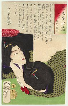 I Really Want to Go To Sleep by Yoshitoshi (1839 - 1892)