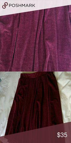 Lula roe monroe Wine color velvet skirt LuLaRoe Skirts A-Line or Full