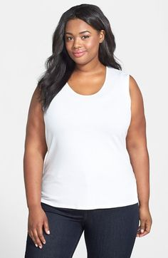 Eileen+Fisher+Scoop+Neck+Sleeveless+Top+(Plus+Size)+available+at+#Nordstrom