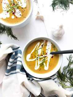 This vegan butternut squash soup is a classic recipe my mom makes every fall. It's the perfect mix of hearty seasonal veggies and smooth coconut cream. Gluten Free Recipes For Dinner, Dairy Free Recipes, Dinner Recipes, Photography Composition, Food Photography, Sin Gluten, Vegan Butternut Squash Soup, Classic Recipe, Savoury Recipes