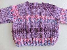 Purple Mix Cabled Baby Jumper Hand Knitted Baby Sweater #etsy #etsyseller #etsyshop #etsyfinds #etsystar #etsymagazine #etsyretweeter #tweetmaster #britishcrafters #whatify #babyshowergift #newbabygift #babygift #babyclothes