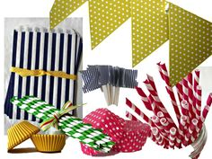 Party supplies to coordinate with the preppy tie themed printables! shoplemondrop