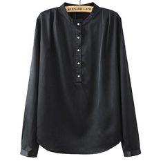 new Women 3 colors loose brief office blouses stand collar long sleeve shirts Blusas Femininas basic work wear solid tops