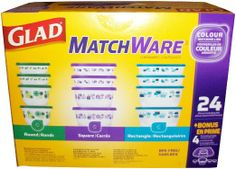 Great way to organize and store food and so much more around the house!!  Glad MatchWare Food Storage Containers Variety Pack plus Bonus - 24 pieces including lids : Amazon.com : Kitchen & Dining  #springcleaning #organizeyourlife #foodfoodfood