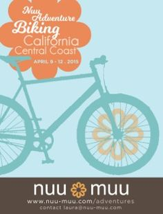 Leading a women's fitness cycling adventure with the fantastic Nuu-Muu in April! Who's coming? http://nuu-muu.com/cycleCA.html
