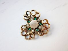 Antique Brooch Edwardian age age Gold Filled by IfindUseekVintage, $15.00