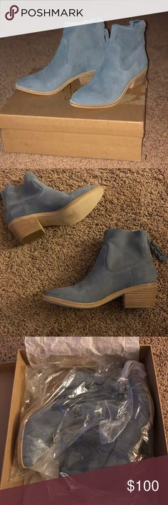 Brand new Joie booties Gorgeous brand new Joie booties in Skylark blue - Size 6.5 - Regular price $298.00 - comes with tags, dust bag and original box Joie Shoes Ankle Boots & Booties