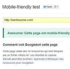 Site mobile-friendly
