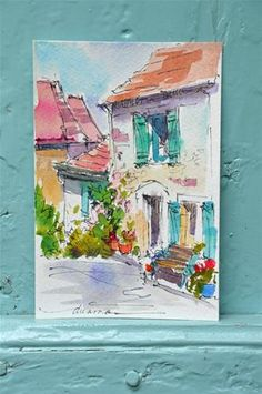 """Daily Paintworks - """"Wandering in France and Another Giveaway!"""" - Original Fine Art for Sale - © Dreama Tolle Perry"""