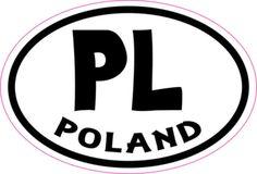 Oval PL Poland sticker