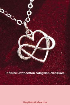 This sterling silver adoption necklace represents one's infinite love and constant connection that can never be broken - regardless of distance or time. Wonderful gift for Birth Mother, Adoptive Mother, Adoptee - anyone you feel a special connection to. This gift idea is perfect for Homecoming days, adoption showers, adoption parties and adoptiversaries. It even conveys a special sentiment for Mother's Day! #manyheartsonebeat #adoptiondaygifts #adoptionjewelry #adoptioncelebration #jewelry Adoption Gifts, Adoption Day, Anklet Jewelry, Anklets, Cute Gifts, Best Gifts, Adoption Shower, Birth Mother, Leather Gifts