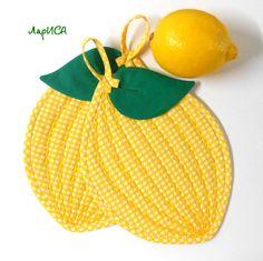 """прихватки """"Лимончики"""""""
