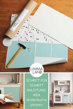 Die IKEA DUKTIG Kinderküche könnt ihr ganz einfach mit Limmaland aufpimpen. Dazu gibt es jetzt eine tolle Schritt für Schritt Anleitung!