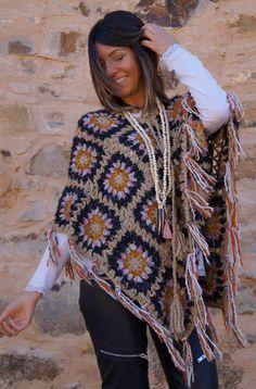 Cute Crochet, Crochet Hats, Crochet Granny, Shawl, Crochet Patterns, Women Wear, Bohemian, Knitting, My Style
