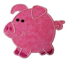 Chubby Pig Applique Embroidery Machine Design by NewfoundApplique, $2.49
