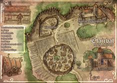 """One of a 50 map I done for a role playing campain named """"Les Chroniques Oubliées Anathazerïn"""" Clairval Fantasy Town, Fantasy Map, Fantasy World, Building Map, Adventure Map, Area Map, Dungeon Maps, Pathfinder Rpg, Treasure Maps"""