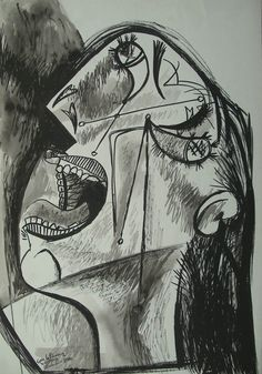Picasso - study for Guernica  #picasso #art #painting