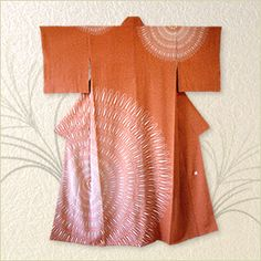 Kimono by National Living Treasure of Japan, Kako MORIGUCHI (1909~2008)