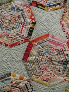 Love the quilting on this selvage quilt.