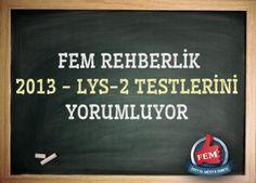 FEMREHBERLİK 2013 LYS-2 TESTLERİNİ YORUMLUYOR !  