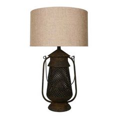 29.5 Inch Metal Lantern table lamp from Grandview Gallery