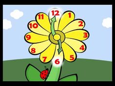 Learn how to tell time with this video about reading a flower clock. This video shows kindergarten kids how to read the hour hand on an analog clock. Uses music to help kids tell time. Its flower time! Fun Math, Math Games, Math Activities, Maths, Math Songs, Homeschool Math, Homeschooling, Math Measurement, Second Grade Math