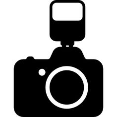 Photo Camera with a Flash Silhouette Dslr Photography, Free Photography, Camera Silhouette, Cinema Party, Birthday Photo Banner, Rain Wallpapers, Camera Art, Simple Doodles, White Picture